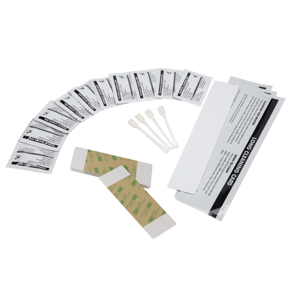 DuraClean™ 89200 Fargo Printer Cleaning kit - Swabs, Cards & Pads