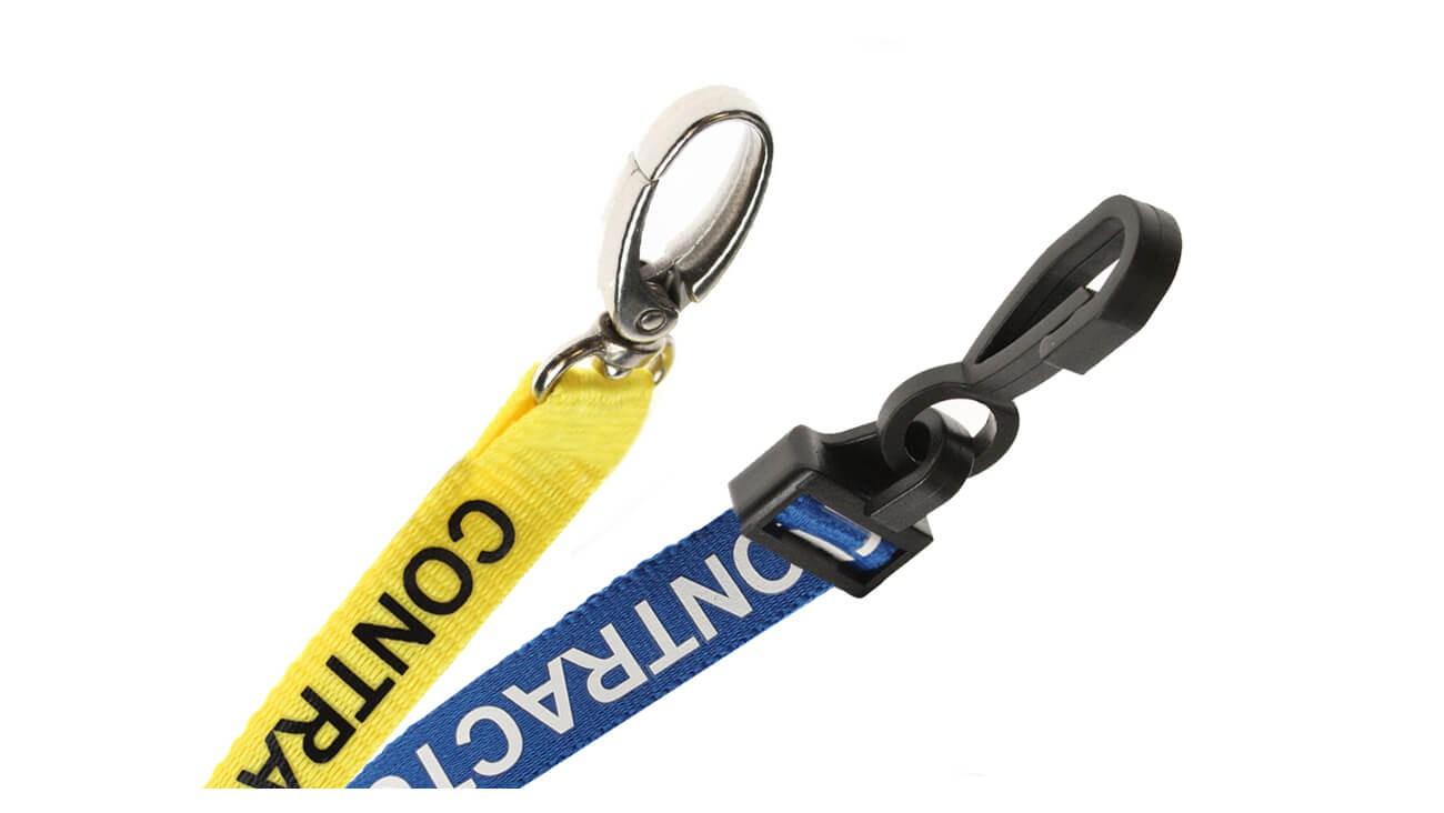 "DuraBadge Preprinted ""Contractor"" Lanyards"