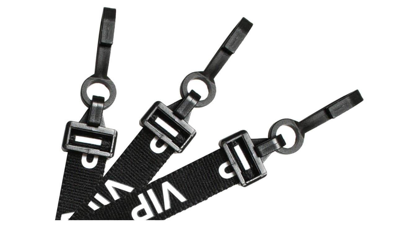 EasyBadge V.I.P. Black Lanyards