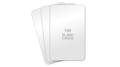 AlphaCard Premium Blank PVC Cards, CR80 30mil - 100 count