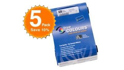 Zebra Color Ribbon YMCKOK P120i - 165 Prints - 5 Pack