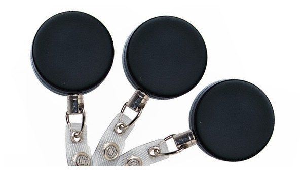 Heavy Duty Badge Reels with Reinforced Strap- Pack of 25