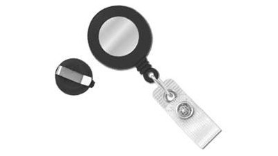Retractable Badge Reel Black Clip-On