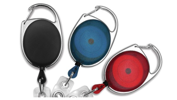 Premium Oval Carabiner Badge Reels - Pack of 25