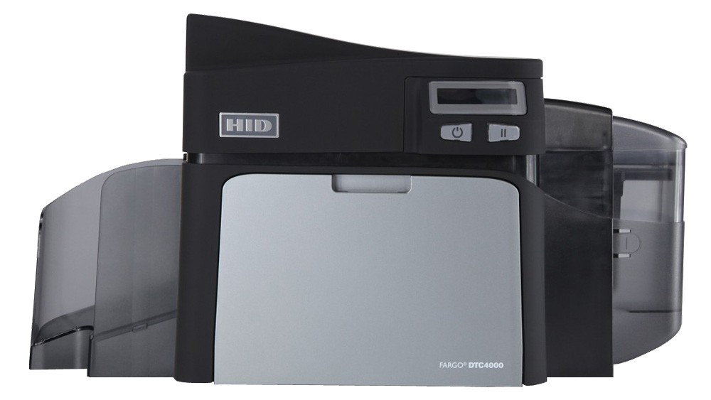 Fargo DTC4000 Single Sided Printer-Magnetic Encoding, ISO-100 Card Hopper-USB