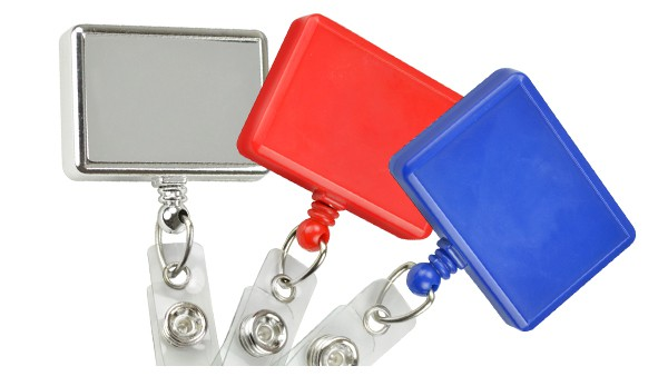 Rectangle Badge Reels - Pack of 25