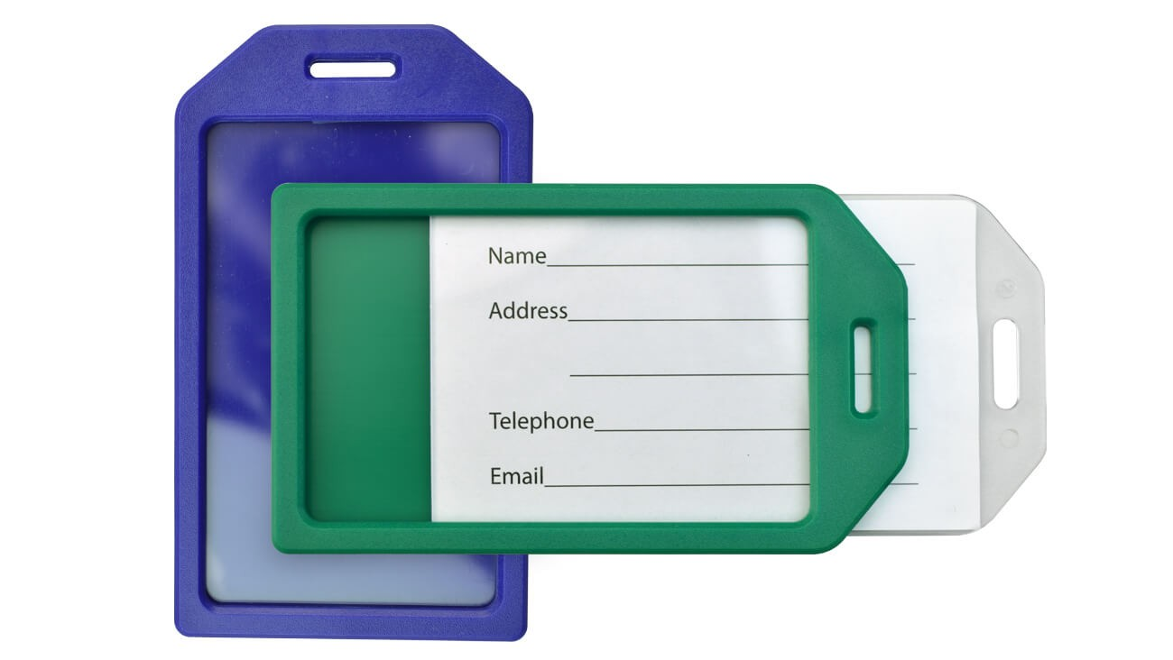 Rigid Plastic Luggage Tags – Pack of 100
