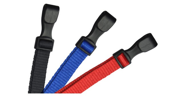 "Safety 3-Breakaway 3/8"" Flat Microweave Lanyards – Pack of 100"