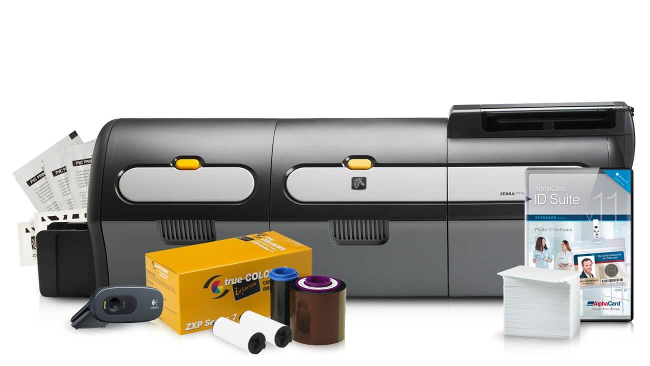 Zebra ZXP Series 7 Dual Sided Dual Laminating ID Card Printer System