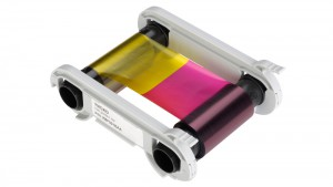 Evolis R5F001 5 Panel Color Ribbon - YMCKO - 100 Prints