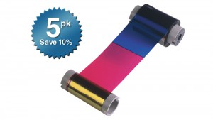 Fargo Color Ribbon YMCKO - 250 Prints - Quantity of 5