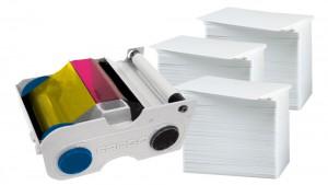 44200 Ribbon & 300 Blank White PVC Cards