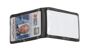 Shielded Magnetic Vertical Double Pocket Badge Holder - Data/Credit Card Size