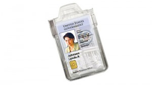 Secure Shilded Ridgid Plastic Badge Holder - 100 Pack