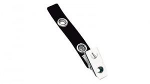 Black 2-Hole Badge Clip - Vinyl Strap - 100