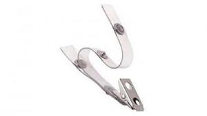 Clear Vinyl Badge Clip - Double Strap - 100