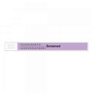 Short Stay Tyvek Screened Wristband