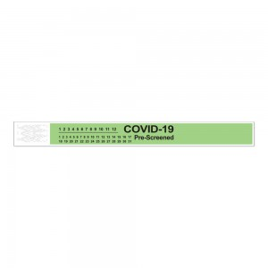 Short Stay Tyvek COVID-19 Pre-Screened Wristband