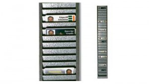 Horizontal Metal ID Badge Rack