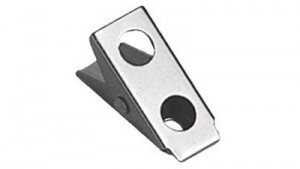 "Attachable 1"" 2-Hole Badge Clip - 500"