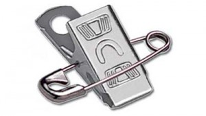 Attachable Embossed U Pin-Clip - 500