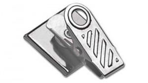Pressure-Sensitive 1-Hole Ribbed Badge Clips - 500