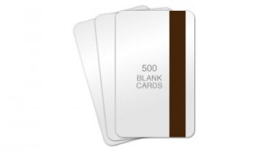 Lo-Co Magnetic Stripe Blank PVC Cards, CR80 30mil - 500 count
