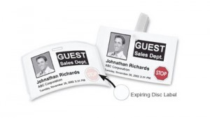 Dymo Time Expiring Adhesive Name Badges