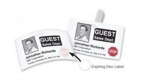 Dymo Time Expiring Adhesive Name Badges