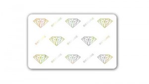 Zebra Premier Plus Security Cards - Diamond Hologram