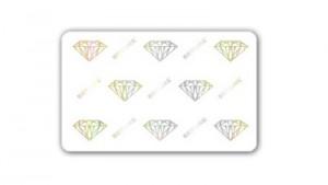 Zebra Premier Plus Security Cards - Diamond Hologram