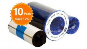 Zebra Color Ribbon 5 Panel YMCKO - 330 Prints - Quantity of 10