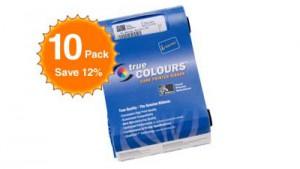 Zebra Color Ribbon YMCKOK P120i - 165 Prints - Quantity of 10