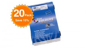 Zebra Color Ribbon YMCKOK P120i - 165 Prints - Quantity of 20