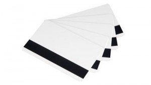 Evolis Rewritable PVC Cards (Black) with Magnetic Stripe - 100 cards