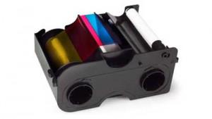 Fargo 45014 YMCKO Half-Panel Color Ribbon, 350 Prints