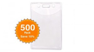 Plastic Badge Holder - Portrait - Quantity of 500