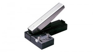 Stapler-Style Slot Punch with Guide