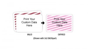 TIMEBadge BACKpart and FRONTpart Expiring Badge Kit - One Day