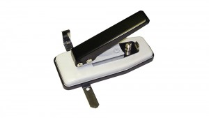 Compact Stapler-Style Slot Punch with Adjustable Guides (Slot Punches)