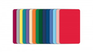Blank Color PVC Cards, CR80 30mil - 100
