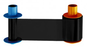 Fargo 45211 Premium Black KO Ribbon, 1250 Prints