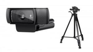 Logitech HD Pro Webcam C920 w/ Tripod