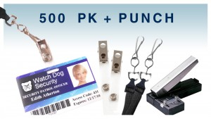 ID Accessory Pack - Includes Lanyards, Strap Clips & Slot Punch - 500 count