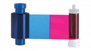 Full Color YMCKOK Ribbon with Black Back, 250 Prints, Compatible with AlphaCard ID Card PRO550 Printers