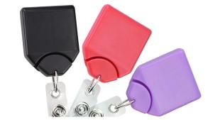 Premium Square No-Twist Badge Reels - Pack of 25