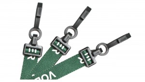 EasyBadge Green Volunteer Lanyards