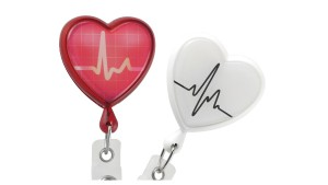 EKG Healthcare Heart Badge Reel – Pack of 25