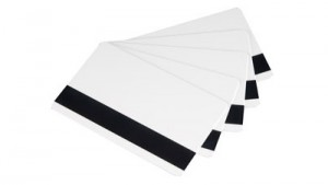 Evolis Rewritable PVC Cards with Magnetic Stripe - Black or Blue Printing - 100 cards