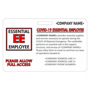 CR80 Essential Employee Card Horizontal